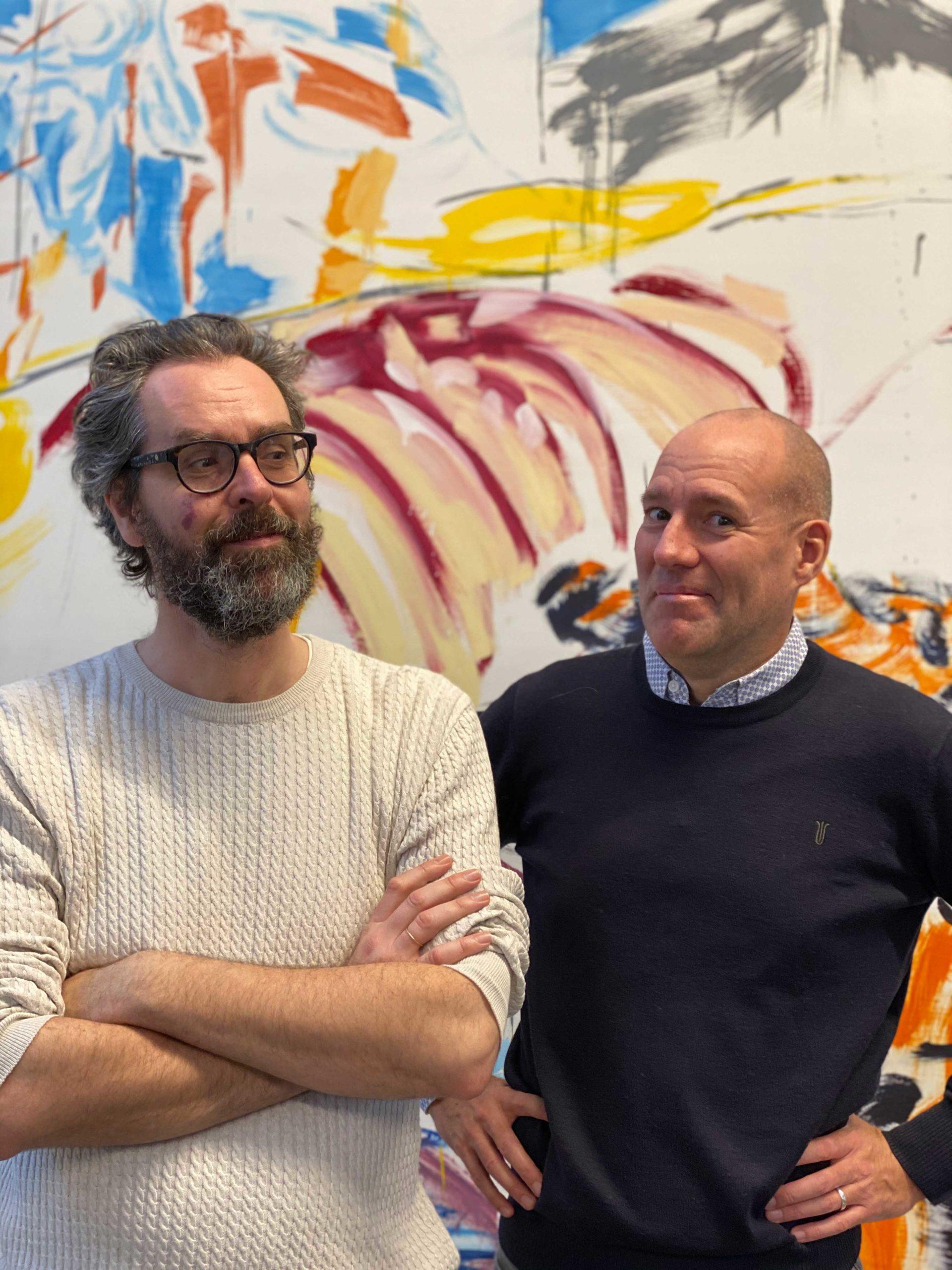 Portrætbillede af Christian og Anders fra Den Grønne Rejse